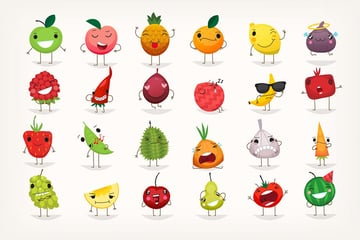 Fruit Emoticons by moonery