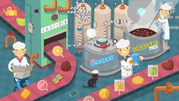 Completed Chocolate Factory Illustration by moonery