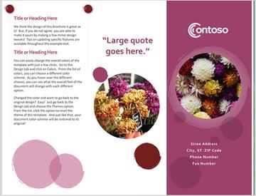 Microsoft Word Rose Suite Brochure