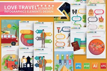 Love Travel Infographics Design