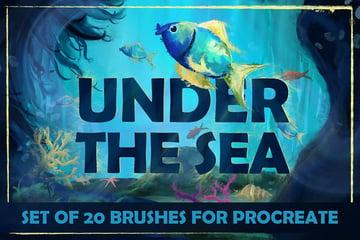 Under the Sea Procreate Brushes by LeoSupply