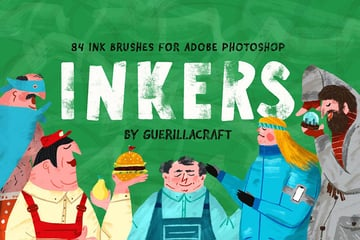 Inkers Brushes for Adobe Photoshop by guerillacraft