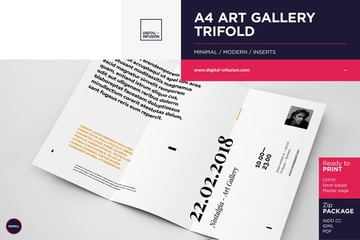 Trifold Invitation Brochure Template
