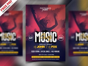 Music Party Invitation Flyer