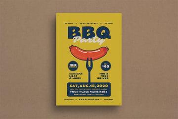BBQ Event Flyer