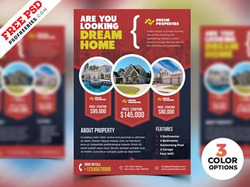 Free Dream Home Real Estate Flyer