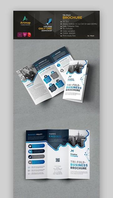 Trifold Brochure Template Design