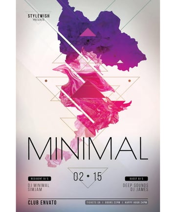 Minimal poster design by Wout Vromans stylewish