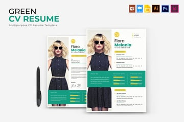 Green  CV  Resume Template InDesign