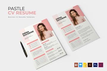 Pastle  CV  Resume Template Design