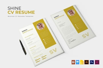 Shine CV Resume InDesign Template