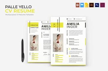 Yellow InDesign CV  Resume Template Design
