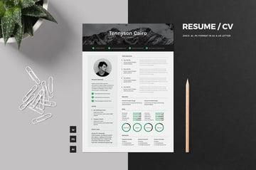 Stylish InDesign Resume Design Template