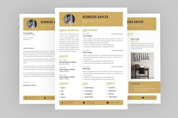 Allure CV Resume InDesign Template