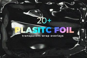 Photoshop Plastic Foil Wrap Overlays