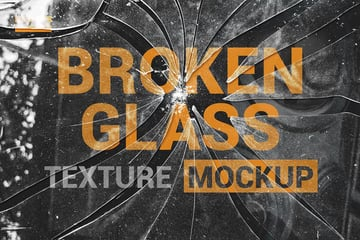 Photoshop Overlay Broken Glass Texture Mockup