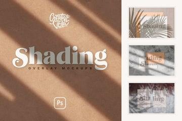 Shadow Overlay  Stationery Mockup Set