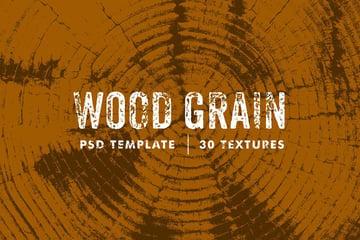 Photoshop Wood Grain Textures Template