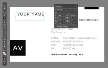 Character Panel InDesign