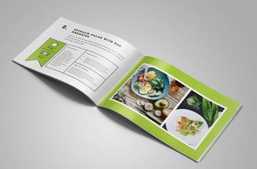 Food Brochure Template InDesign Cookbook