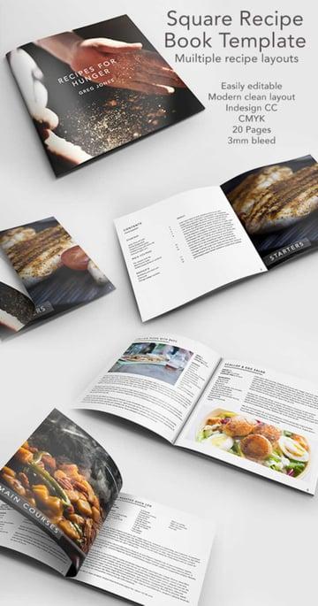 Square Cook Book Recipe Template