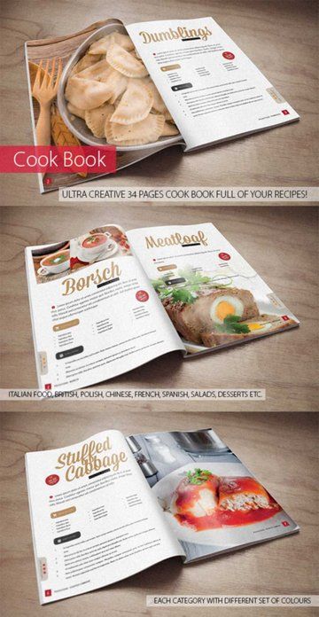Recipe Cookbook Template Design