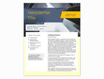 basic newsletter template for word