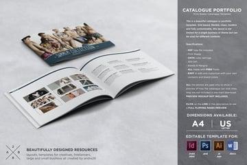 Catalog Design Template Portfolio