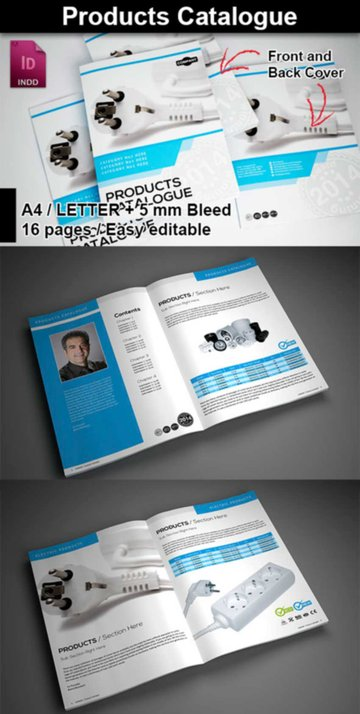 Products Catalogue Template Design