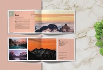 Landscape Photo Book Template Design