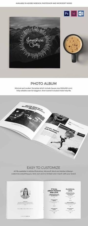 Square Photobook Template Design