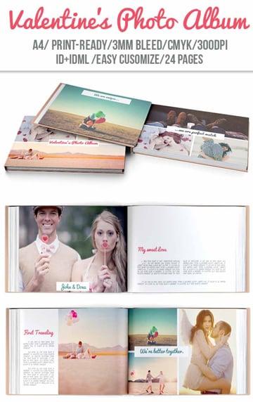 Valentines Day Wedding Photo Book Template