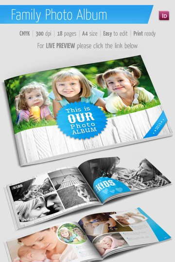 Family Photo Book Album Template