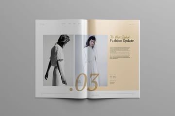 Fashion Lookbook  Magazine Template