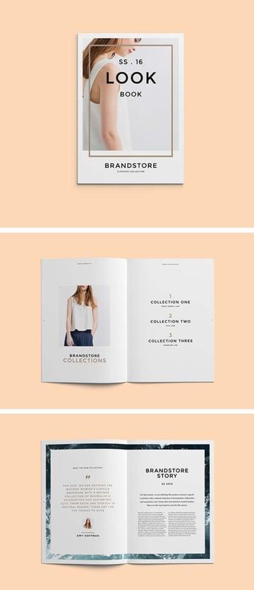 Brand Lookbook Template Design