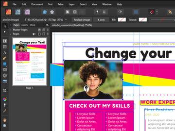 Affinity Publisher Resize Image