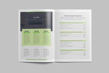 marketing proposal layout