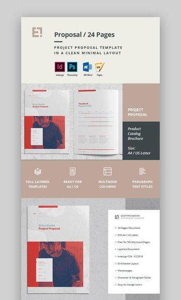 Minimal InDesign Proposal Template Design