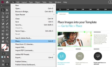 Place Images InDesign