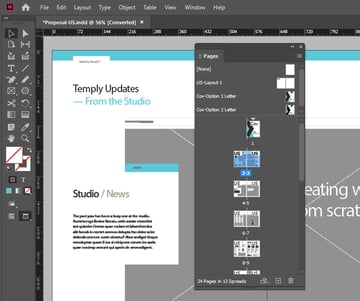 Pages Panel InDesign