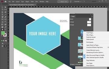 Adobe InDesign Pages Panel