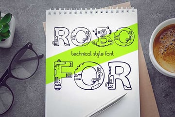 Robofor Mechanical Engineering Font