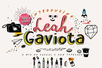 Leah Gaviota Decorative Font