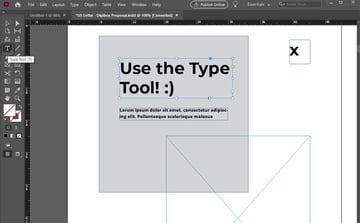 InDesign Type Tool