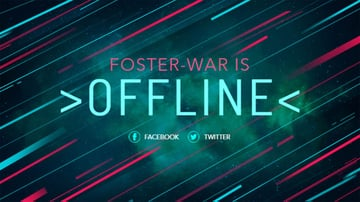 Twitch Offline Banner Generator with Diagonal Lines