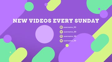 YouTube End Card Design Template