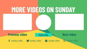 Multicolored YouTube End Card Maker
