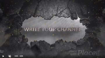 Wall Break Video Intro Animated Logo Stinger
