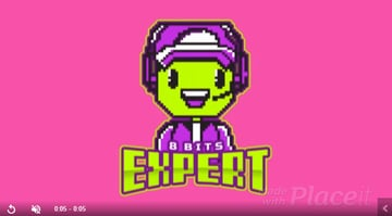 Animated 8 bit Logo Maker Featuring a Cute Character