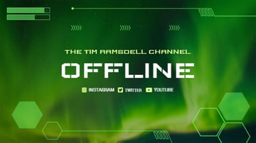 Twitch Offline Banner Maker with Tech Images